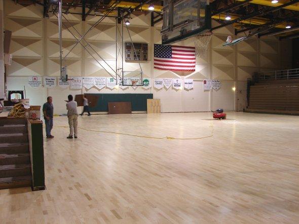 New floor in the Activity Center