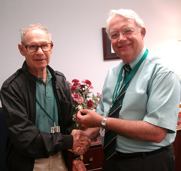 Mr. Imerson honors Walter Hilgart