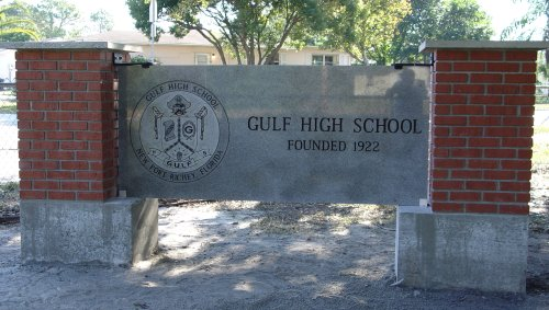 New marker installed on the Gulf campus