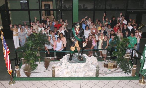 Buccaneer statue is dedicated