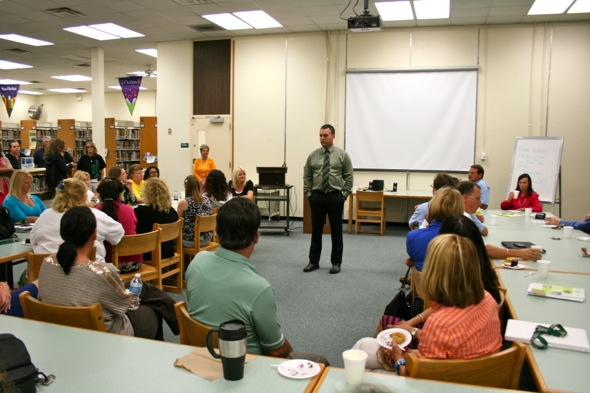 dr knobl says good bye to the faculty gulf high school