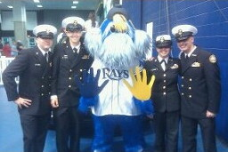 NJROTC Color Guard at the Rays game