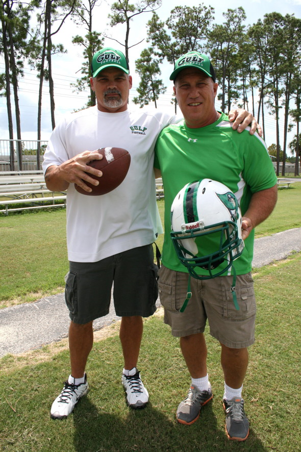 Two of our football coaches played for Gulf in the '80s