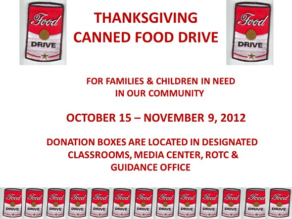HCA canned food drive – Food Drive Flyer Samples