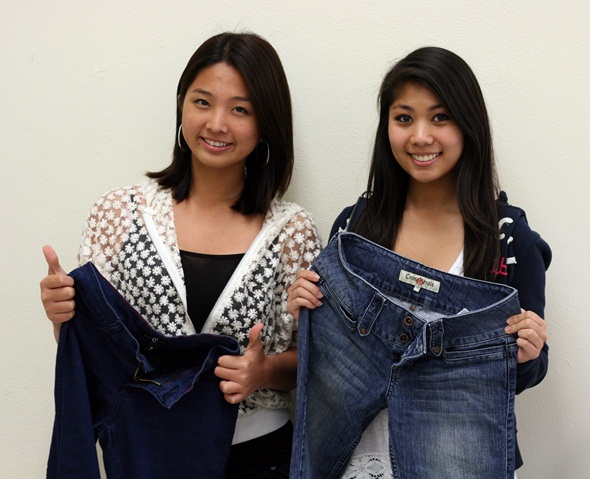 Gulf student collected jeans for the homeless
