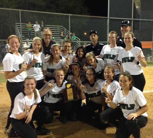 Softball team wins districts!