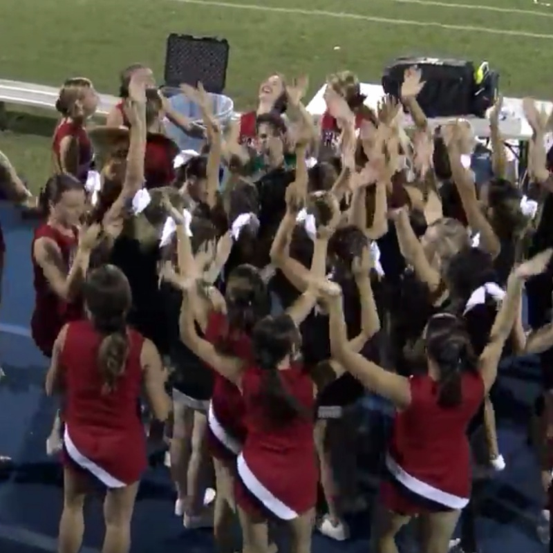 Video clip – Gulf and Pasco cheerleaders together