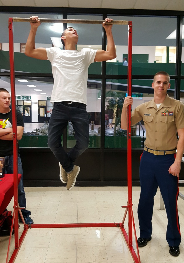 marine corps challenge during lunch gulf high school