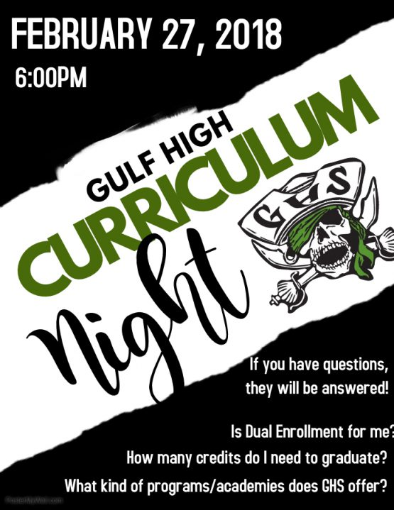 Curriculum Night Announced