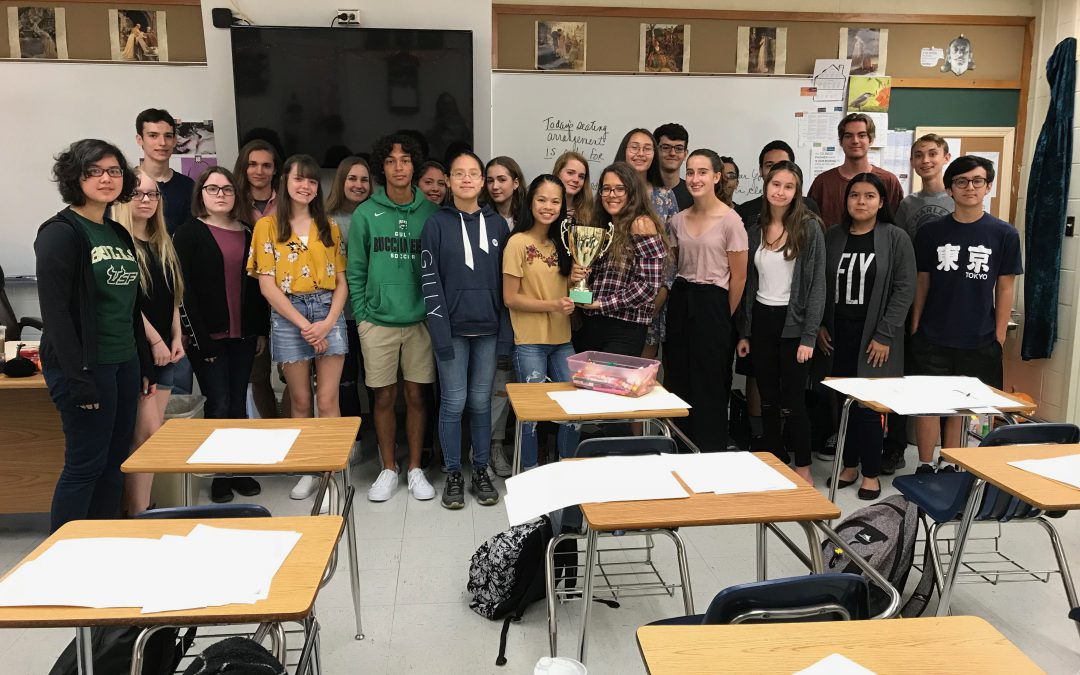 Congrats to Ms. Winslow's 2nd Period Trivia Winners