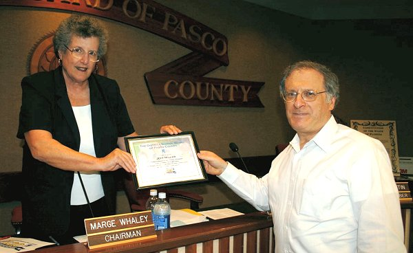 School board honors Mr. Miller