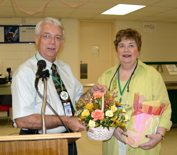 Kathy Norris is honored on her last day at Gulf