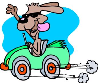 Dog In Car Clipart