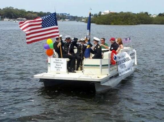 NJROTC in Chasco Boat Parade