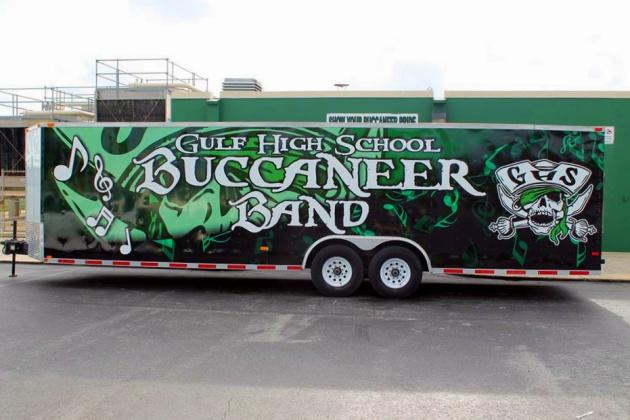 Gulf High Band Reveals New Trailer Design Gulf High School