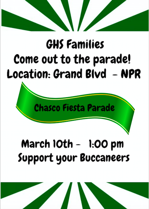 Support GHS at the Chasco Fiesta Parade