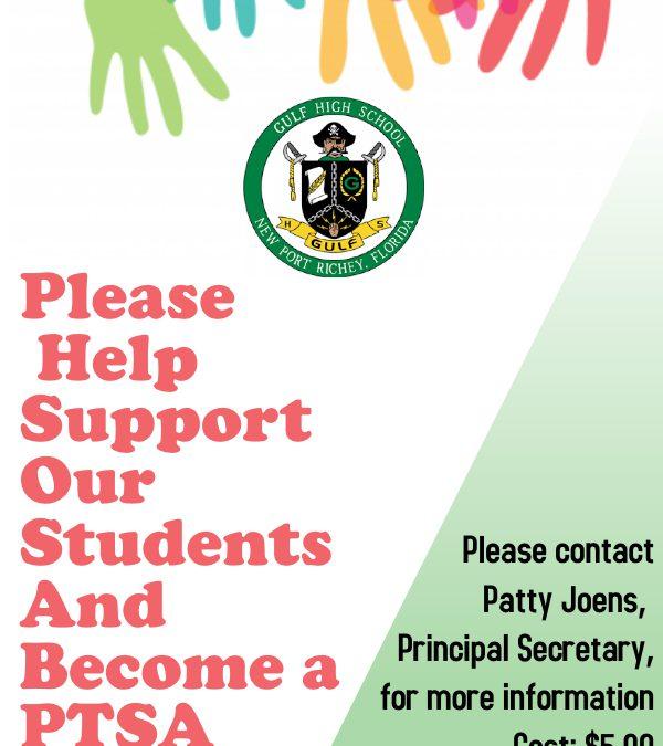 Become Involved!  Join PTSA Today!