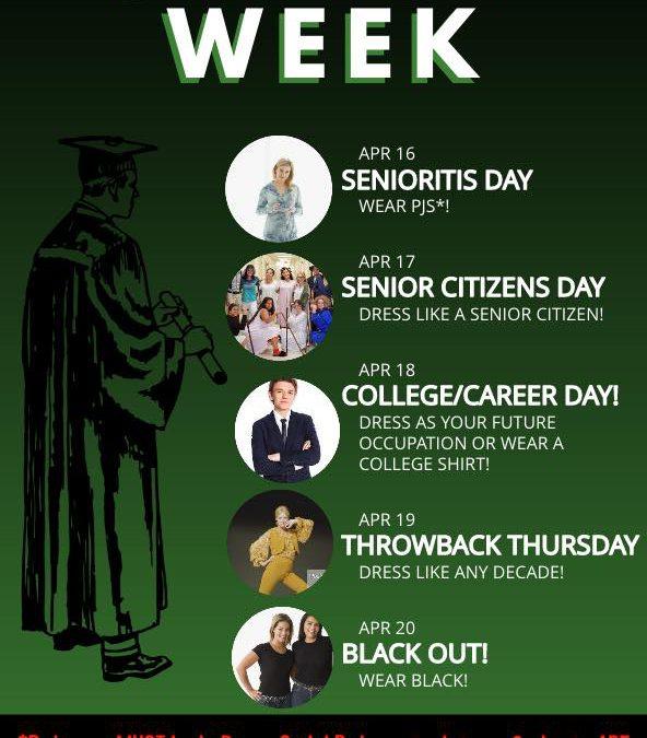 Senior Week Schedule