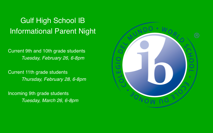 IB Parent Nights Announced