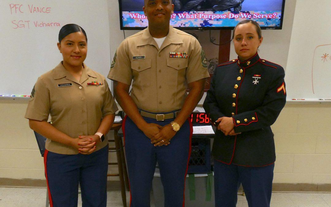 Marine Recruiters Visit GHS