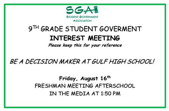 Student Government Interest Meeting Announced