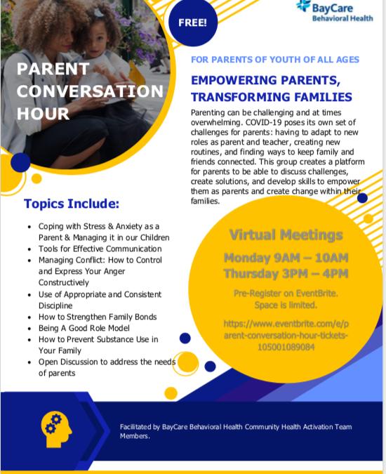 Parent Conversation Hour