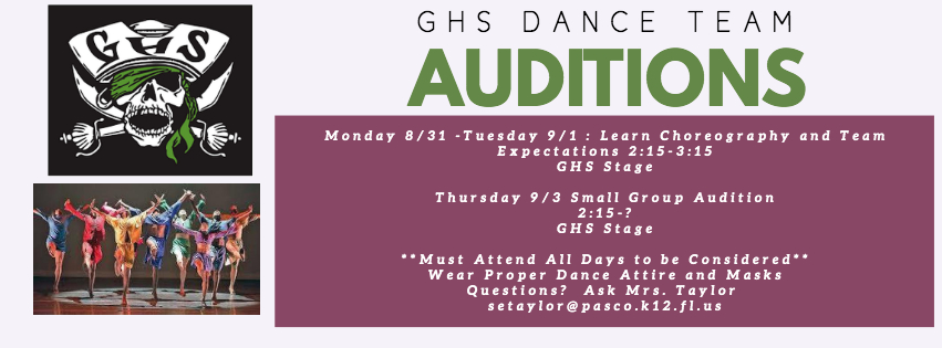 GHS Dance Team Auditions Announced