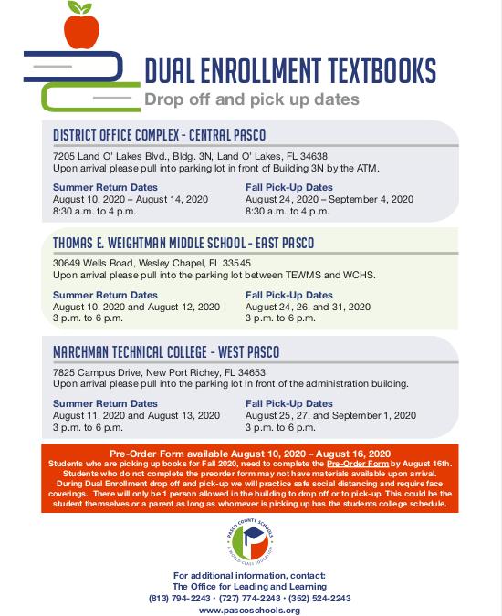 Dual Enrollment Textbook Info